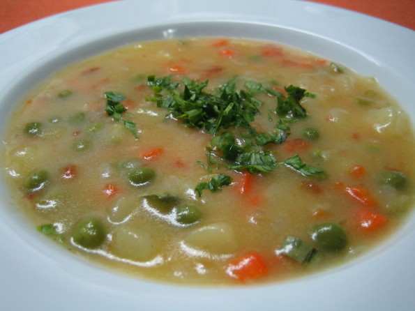Sopa de Vegetais com Fubá