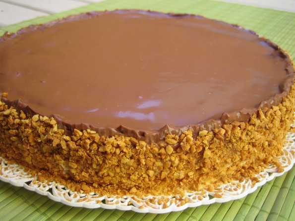 Torta Pavê de Amendoim